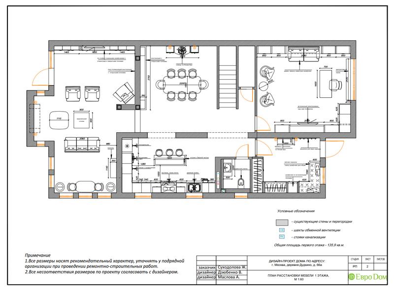 Дизайн интерьера коттеджа 393 кв. м в английском стиле. Фото 029