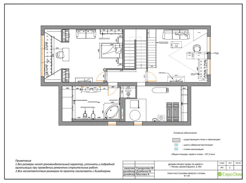 Дизайн интерьера коттеджа 393 кв. м в английском стиле. Фото 031