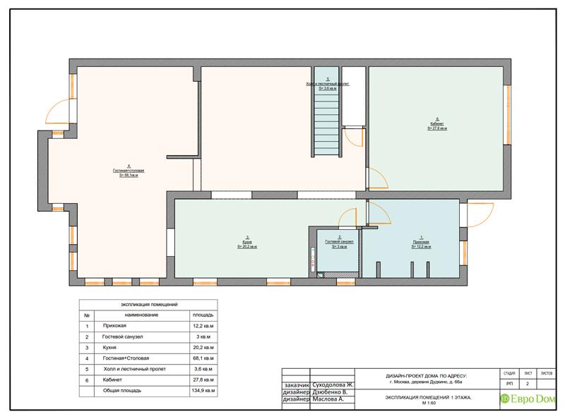 Дизайн интерьера коттеджа 393 кв. м в английском стиле. Фото 033