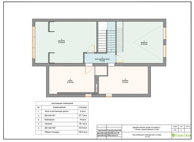 Дизайн интерьера коттеджа 393 кв. м в английском стиле. Фото 035
