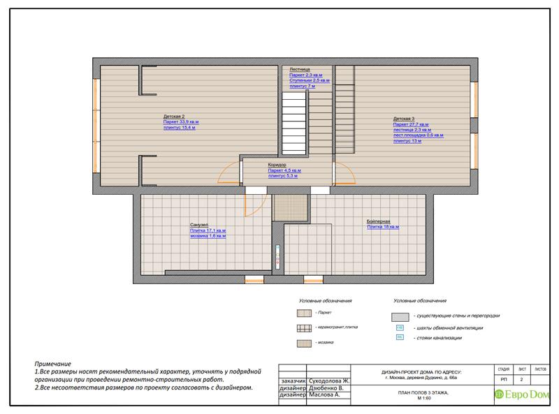 Дизайн интерьера коттеджа 393 кв. м в английском стиле. Фото 043