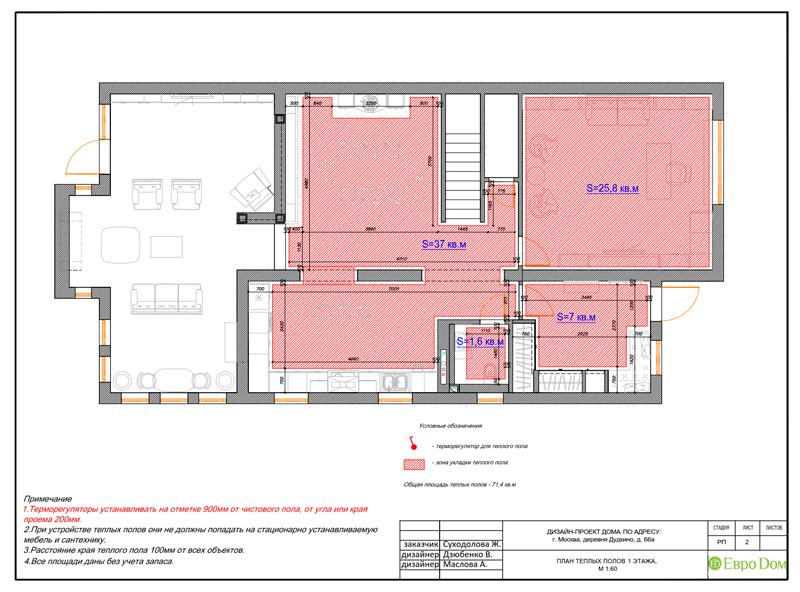 Дизайн интерьера коттеджа 393 кв. м в английском стиле. Фото 045
