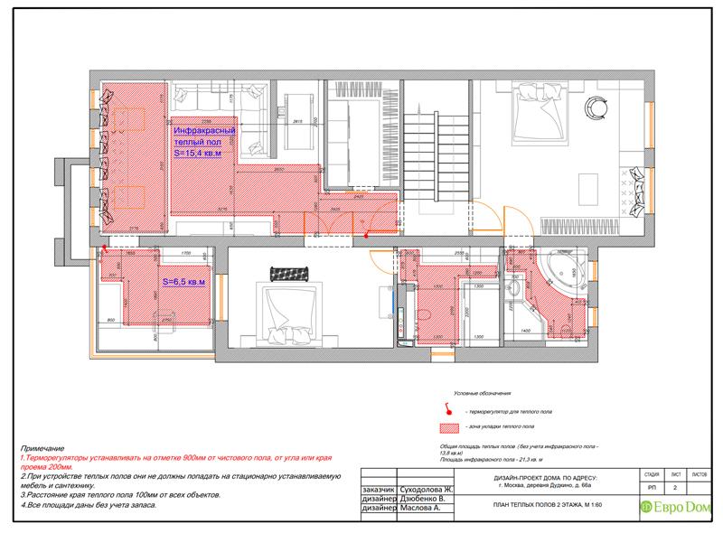 Дизайн интерьера коттеджа 393 кв. м в английском стиле. Фото 046