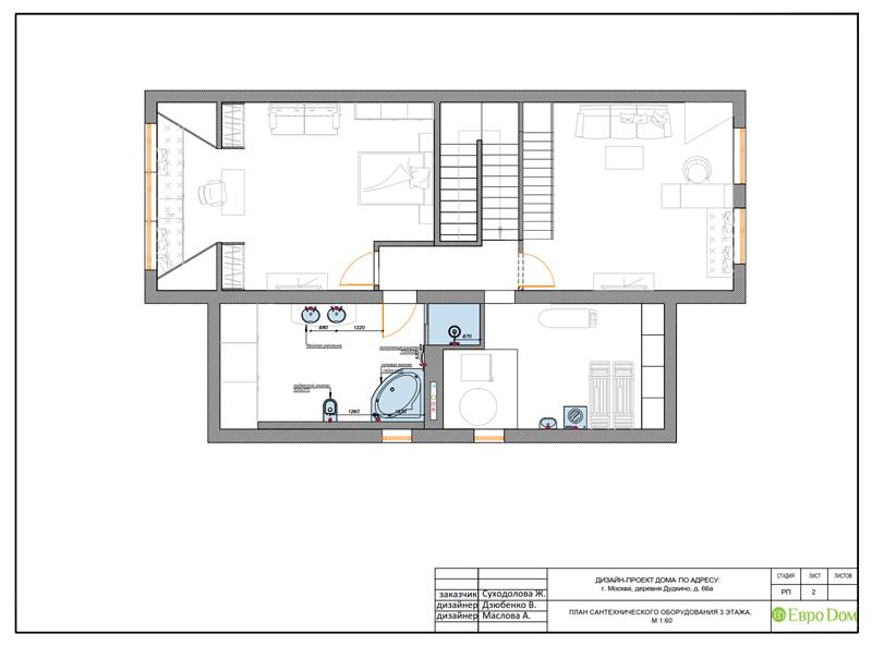 Дизайн интерьера коттеджа 393 кв. м в английском стиле. Фото 054