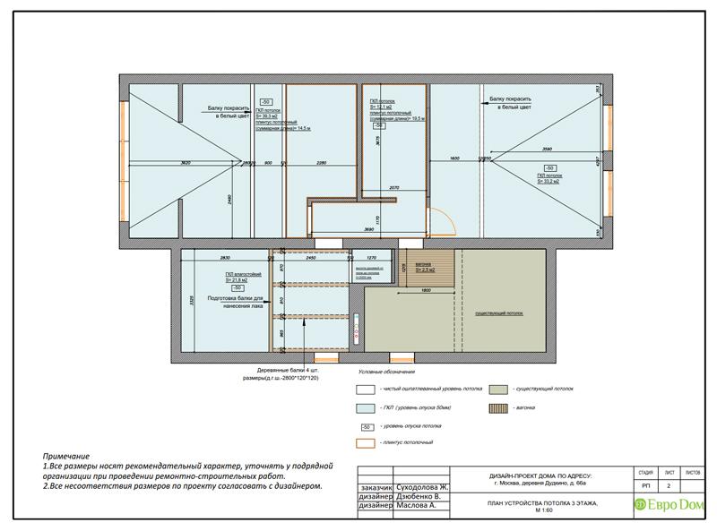 Дизайн интерьера коттеджа 393 кв. м в английском стиле. Фото 058