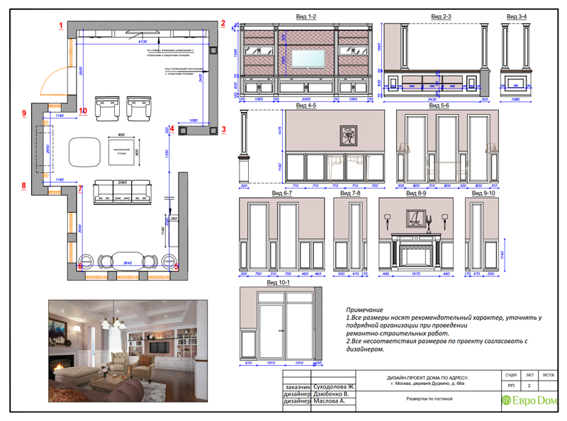 Дизайн интерьера коттеджа 393 кв. м в английском стиле. Фото 065