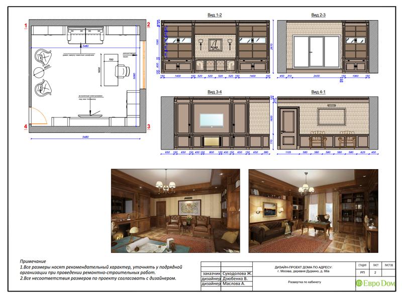 Дизайн интерьера коттеджа 393 кв. м в английском стиле. Фото 066