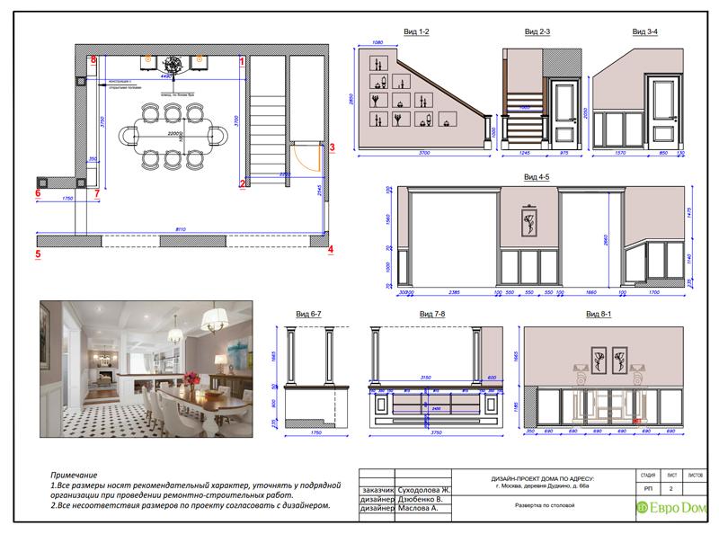 Дизайн интерьера коттеджа 393 кв. м в английском стиле. Фото 070