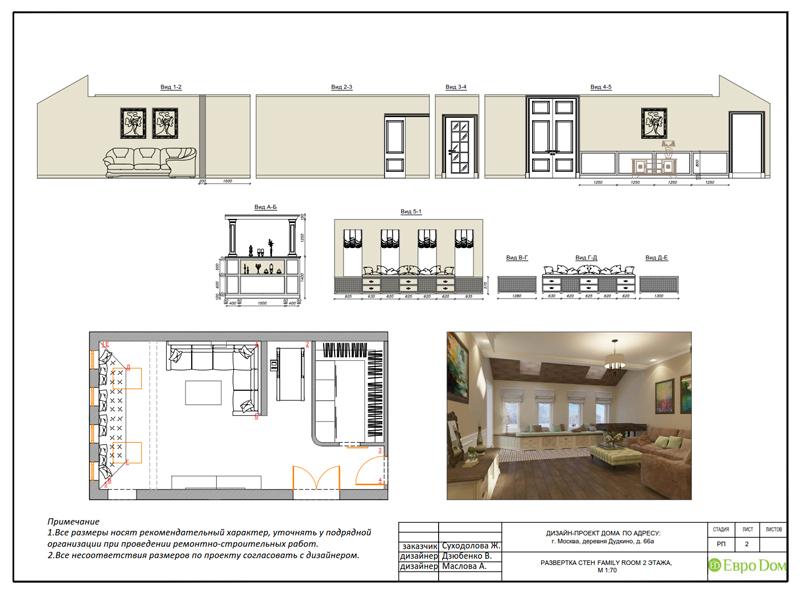 Дизайн интерьера коттеджа 393 кв. м в английском стиле. Фото 071