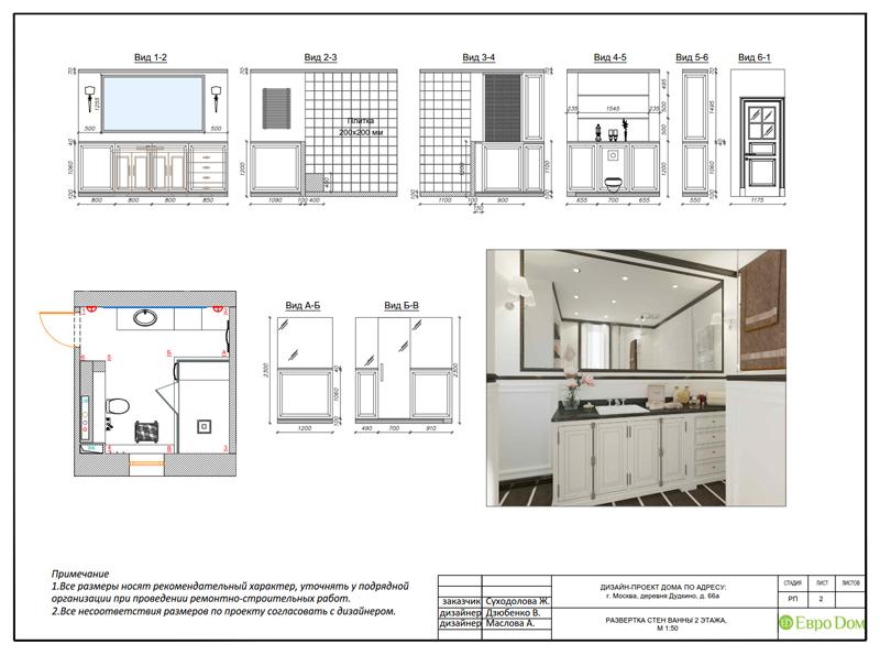 Дизайн интерьера коттеджа 393 кв. м в английском стиле. Фото 072