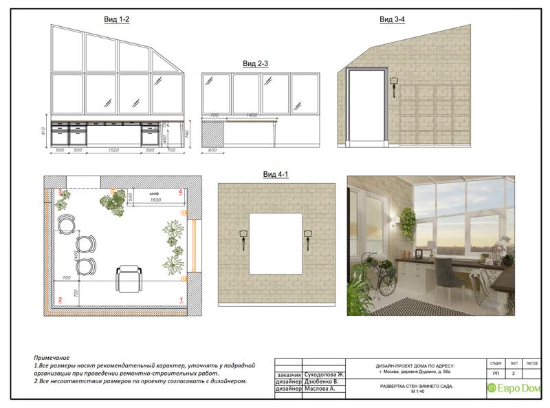 Дизайн интерьера коттеджа 393 кв. м в английском стиле. Фото 076
