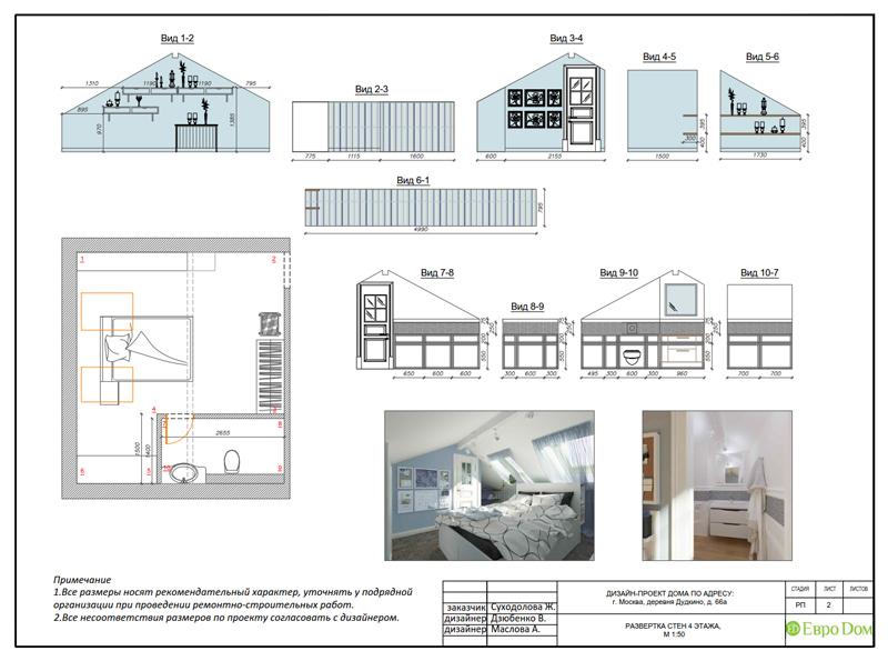 Дизайн интерьера коттеджа 393 кв. м в английском стиле. Фото 081