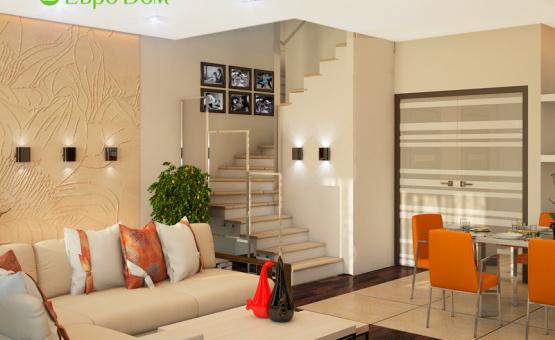 Дизайн интерьера коттеджа 210 кв.м. по адресу МО, Коттеджный посёлок «Скипер». Фото 3