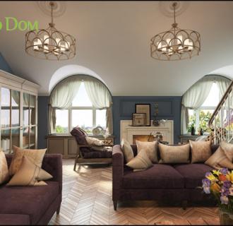 Дизайн интерьера коттеджа 155 кв. м в современном стиле. Фото проекта