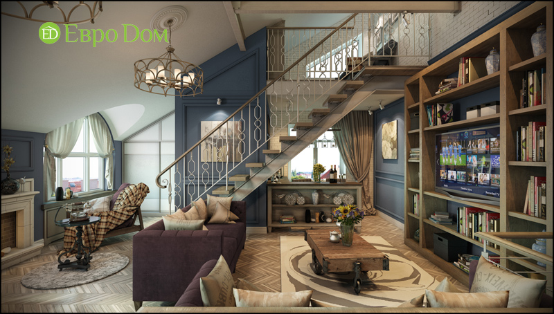 Дизайн интерьера коттеджа в современном стиле. Фото 013