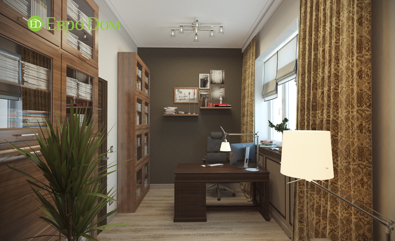 Дизайн интерьера коттеджа в современном стиле. Фото 018