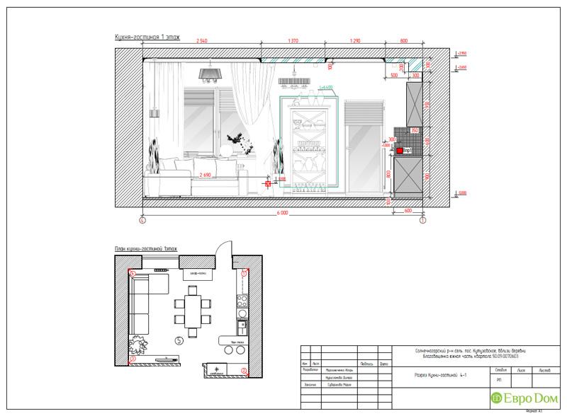 Дизайн интерьера коттеджа в стиле контемпорари. Фото 048