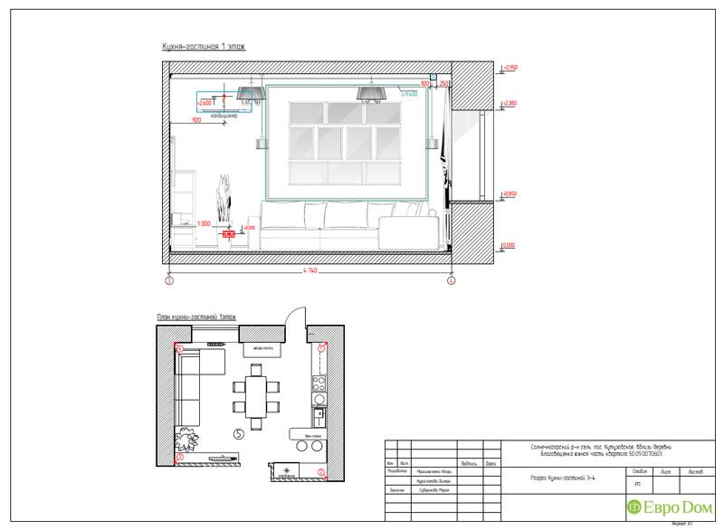 Дизайн интерьера коттеджа в стиле контемпорари. Фото 051
