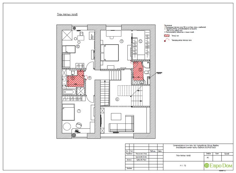 Дизайн интерьера коттеджа в стиле контемпорари. Фото 062