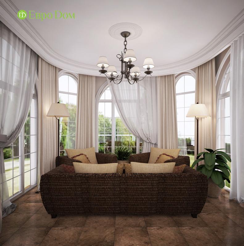 Дизайн интерьера коттеджа 240 кв. м в стиле модерн. Фото 010