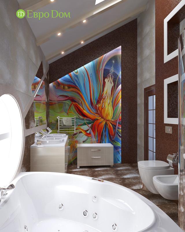 Дизайн интерьера коттеджа 240 кв. м в стиле модерн. Фото 016
