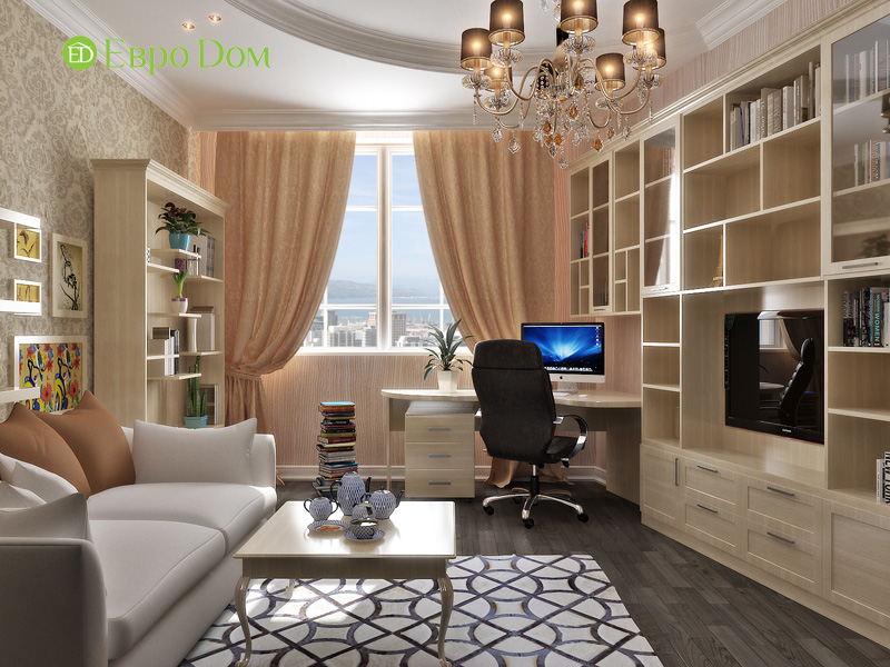 Дизайн интерьера коттеджа 240 кв. м в стиле модерн. Фото 019