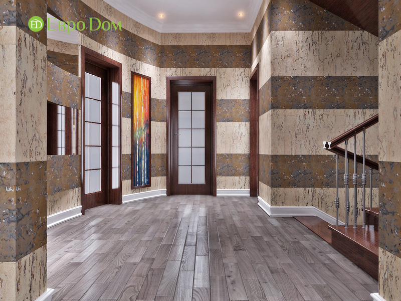 Дизайн интерьера коттеджа 240 кв. м в стиле модерн. Фото 022