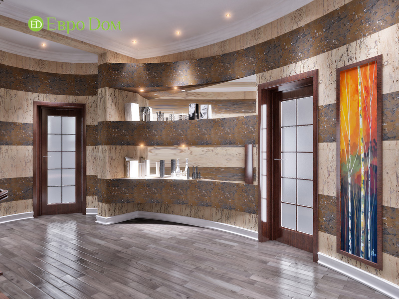 Дизайн интерьера коттеджа 240 кв. м в стиле модерн. Фото 023