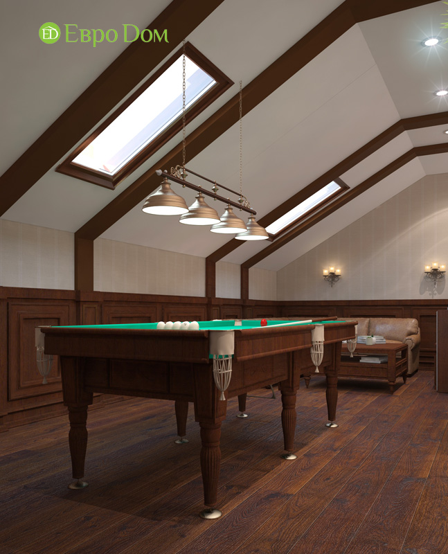 Дизайн интерьера коттеджа 240 кв. м в стиле модерн. Фото 026