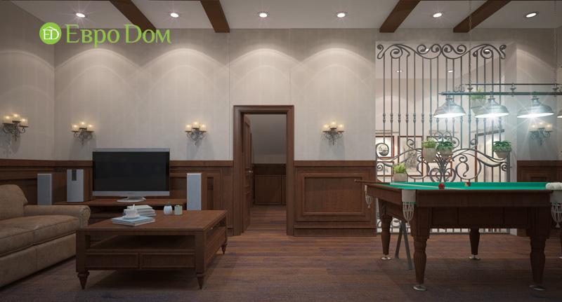 Дизайн интерьера коттеджа 240 кв. м в стиле модерн. Фото 027