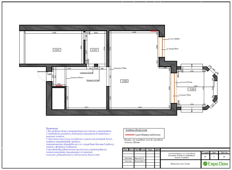 Дизайн интерьера коттеджа 240 кв. м в стиле модерн. Фото 030