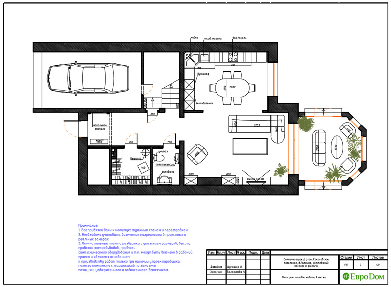 Дизайн интерьера коттеджа 240 кв. м в стиле модерн. Фото 033
