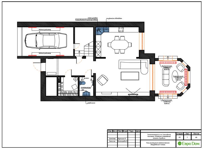 Дизайн интерьера коттеджа 240 кв. м в стиле модерн. Фото 035