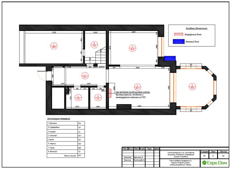 Дизайн интерьера коттеджа 240 кв. м в стиле модерн. Фото 036