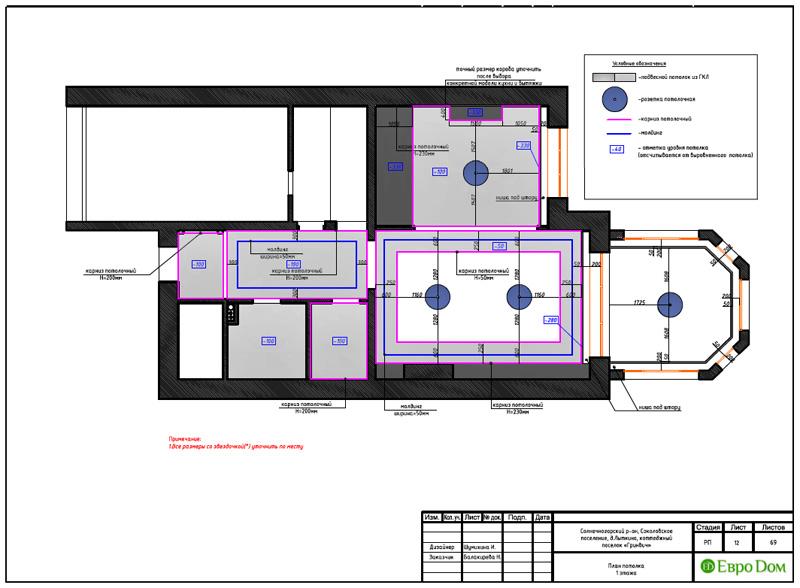 Дизайн интерьера коттеджа 240 кв. м в стиле модерн. Фото 040
