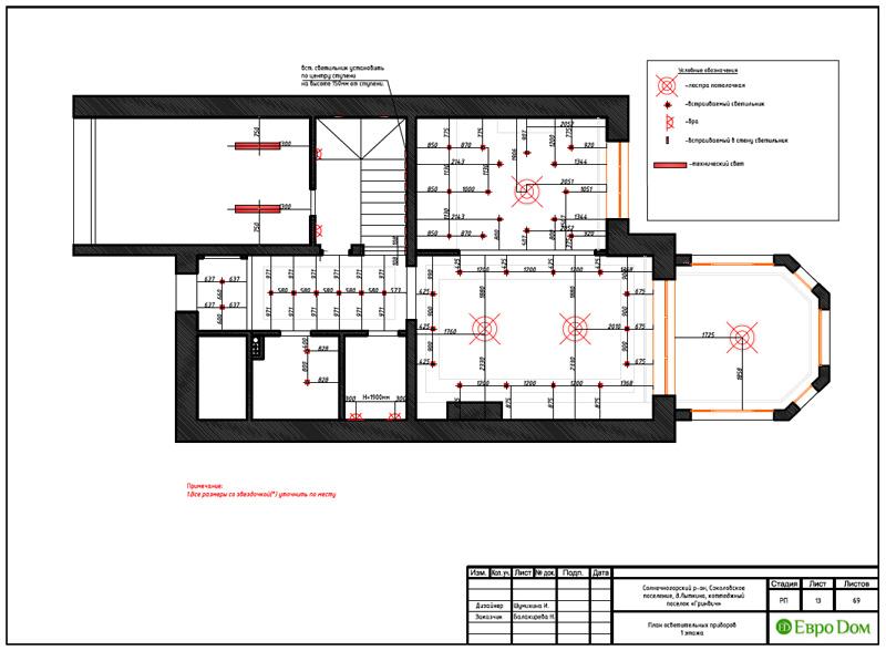 Дизайн интерьера коттеджа 240 кв. м в стиле модерн. Фото 041