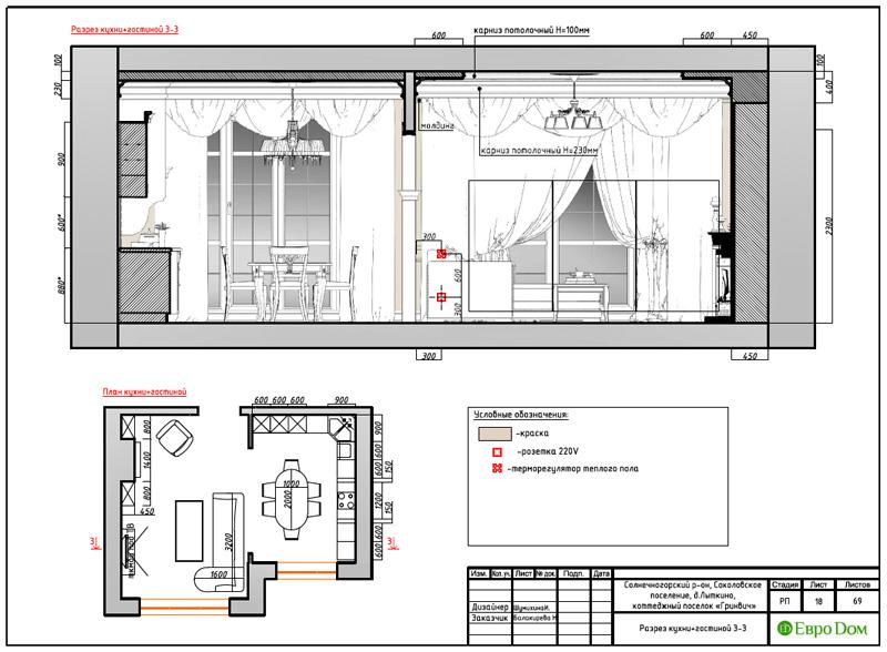 Дизайн интерьера коттеджа 240 кв. м в стиле модерн. Фото 046