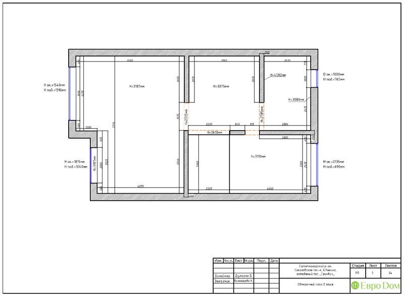 Дизайн интерьера коттеджа 240 кв. м в стиле модерн. Фото 053