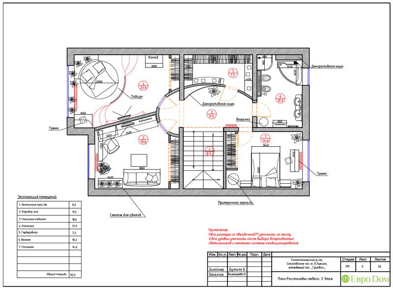 Дизайн интерьера коттеджа 240 кв. м в стиле модерн. Фото 055