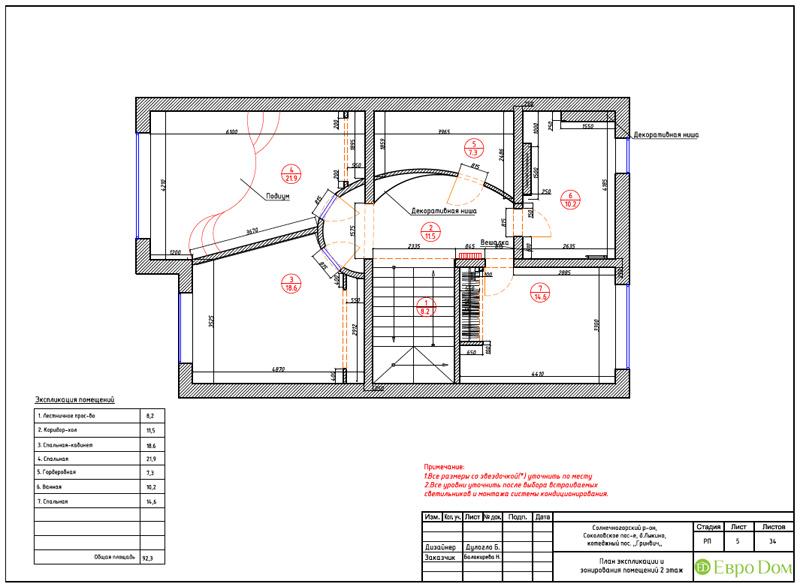 Дизайн интерьера коттеджа 240 кв. м в стиле модерн. Фото 056