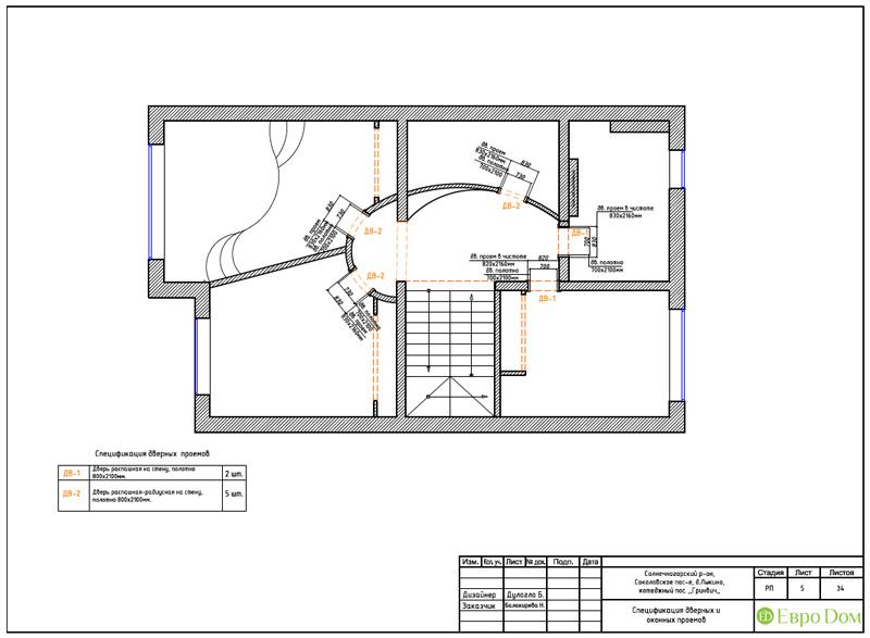 Дизайн интерьера коттеджа 240 кв. м в стиле модерн. Фото 057