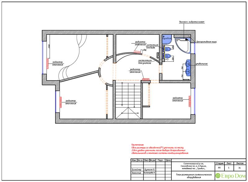 Дизайн интерьера коттеджа 240 кв. м в стиле модерн. Фото 058