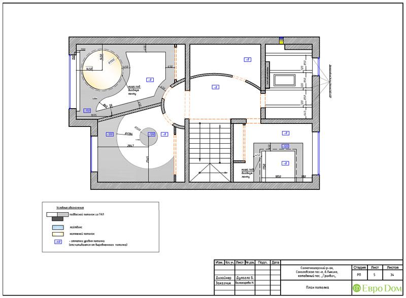 Дизайн интерьера коттеджа 240 кв. м в стиле модерн. Фото 062