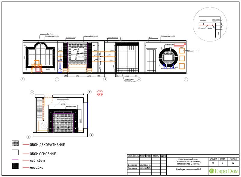 Дизайн интерьера коттеджа 240 кв. м в стиле модерн. Фото 072