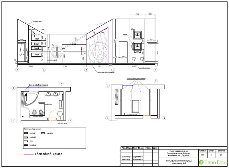 Дизайн интерьера коттеджа 240 кв. м в стиле модерн. Фото 073