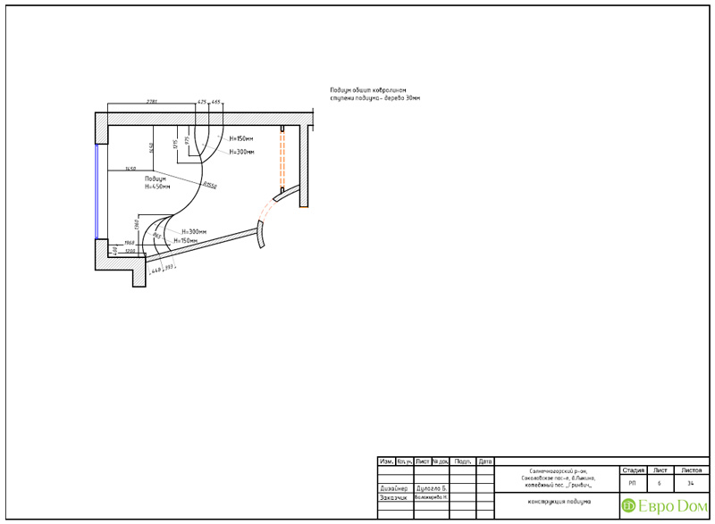 Дизайн интерьера коттеджа 240 кв. м в стиле модерн. Фото 076