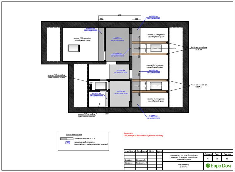 Дизайн интерьера коттеджа 240 кв. м в стиле модерн. Фото 087