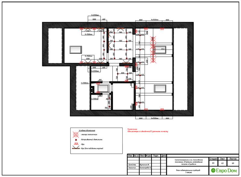 Дизайн интерьера коттеджа 240 кв. м в стиле модерн. Фото 088