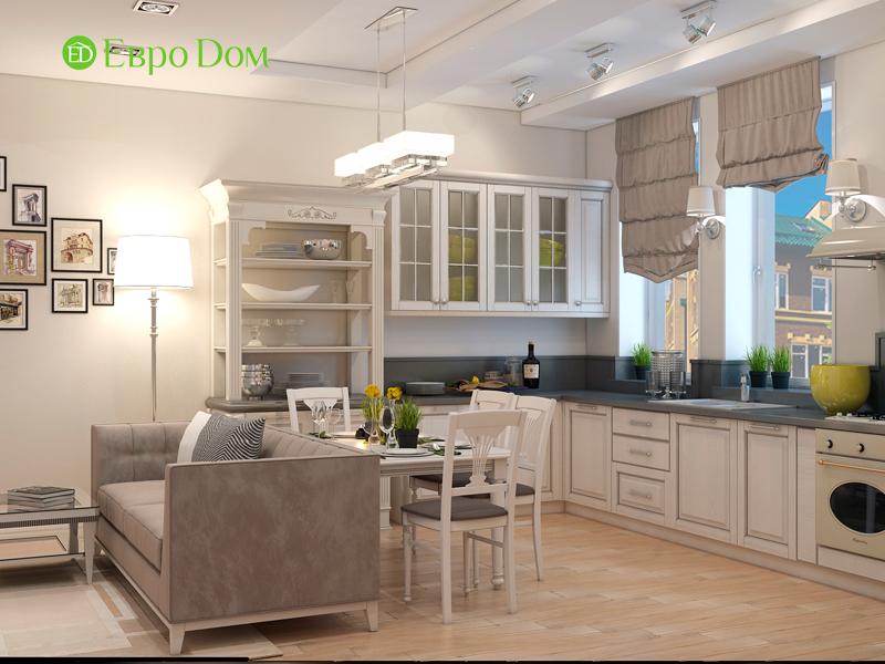 На фото: кухонное помещение и столовая в стиле ар-нуво