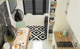 Дизайн интерьера 1-комнатной квартиры 36 кв.м. по адресу г. Москва, Варшавское шоссе, д. 50. Фото 1